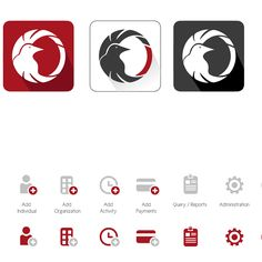 Simple Icons for Nonprofit Web App by Clicky inc