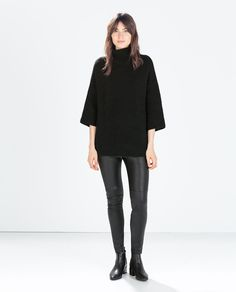 ZARA-HIGH NECK SWEATER-want in all the colors!!!! $79.90