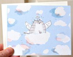 Cloud Ride  Cat Sympathy Card  Cat Heaven  Cat Loss