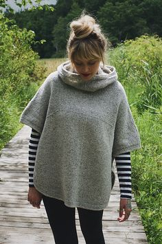 Ravelry: Sheltered pattern by Andrea Mowry | True poncho i.e. sides are open | Worsted