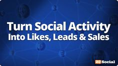 Turn Social Activity Into More Likes, More Leads, & More Sales http://workwithmontes.com