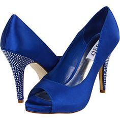 RSVP Sunday in Cobalt Blue - Love the bling on these heels from @6pm