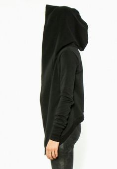 Ovate Valhalla Hooded Sweatshirt- love the shape of it Diy Clothes And Shoes, Diy Clothing, Sewing Clothes, Frock Patterns, Dress Making Patterns, Spiritual Clothing, Do It Yourself Fashion, Diy Vetement, Diy Tops