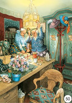 Inge Look Postkaarten 50 nuala art Old Lady Humor, Old Women, Belle Photo, Alter, Illustrators, Folk Art, Illustration Art, Old Things, Drawings