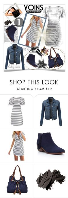 """""""Stripes!"""" by ramiza-rotic ❤ liked on Polyvore featuring LE3NO, Sam Edelman, Liz Claiborne, Chanel, Bobbi Brown Cosmetics and yoins"""