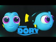 Baby Dory Finding Dory polymer clay tutorial