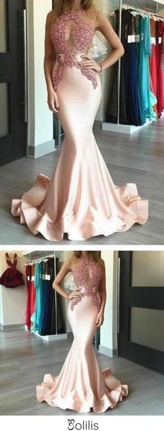 Mermaid Sexy Appliques Long Cheap Evening Dress Formal Women Dress prom dresses uk F68, This dress could be custom made, there are no extra cost to do custom size and color