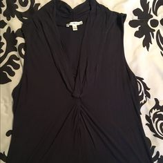 Midnight blue/gray sleeveless top Gently used. Great under a jacket or with white, khaki or jeans! Susana Monaco Tops Tank Tops