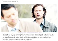 I wish Dean could see everything Cas does for him too. With all of my being,