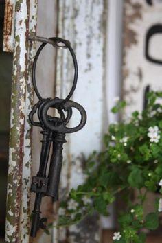 Keys to the secret garden. Wonderful little prop for a garden or vineyard wedding.