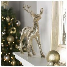 Buy Tesco Gold Reindeer Christmas Decoration from our Christmas Serenade range - Tesco.com