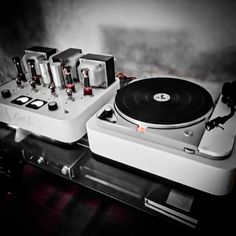 LittleZoe EL34 tubes prototype with thorens TD124 turntable