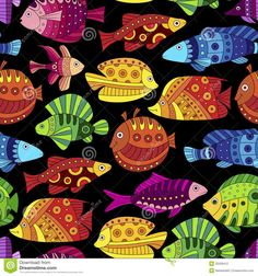 Seamless Pattern With Colorful Tropical Fish - Download From Over 56 Million High Quality Stock Photos, Images, Vectors. Sign up for FREE today. Image: 32028412
