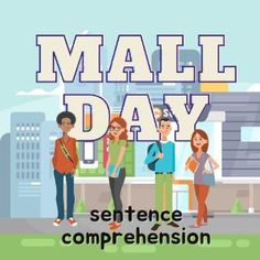 Boom Cards - Mall Day: Sentence Comprehension