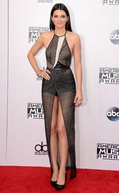 Kendall Jenner in Yigal Azrouël at the AMAs