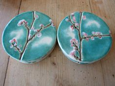 Cherry blossom coasters. Cute.