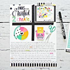 Illustrated Faith Bright and Brave Collection | Created to Create Layout by Stephanie Buice