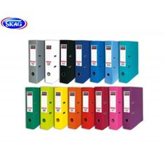 Lever arch files PP in 15 different colours Lever Arch Files, Warehouse Office, Office Items, Skagen, Color Combos, Different Colors, Locker Storage, Stationery, Colours