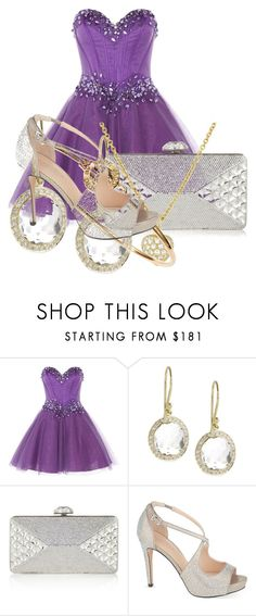 """Purple Prom"" by hifsah ❤ liked on Polyvore featuring Anoushka G, Ippolita, Judith Leiber, Marc by Marc Jacobs, Carvela, women's clothing, women, female, woman and misses"