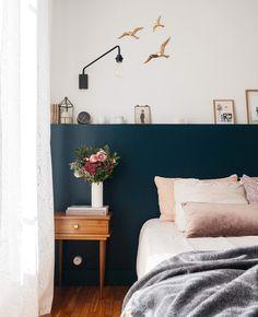 visit deco thalie and co room Bedroom Inspo, Bedroom Decor, Kitchen Decor Signs, Stylish Home Decor, Moroccan Decor, Blue Design, Sweet Home, New Homes, Image Originale