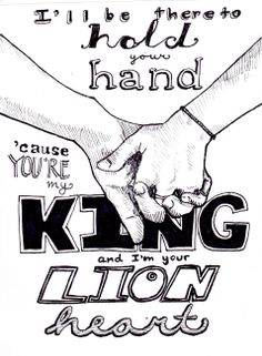 King and Lionheart Of Monsters and Men Lyrics Art  (c)