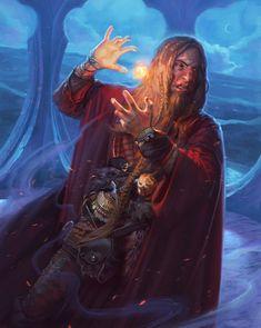 Sorcerer/Fireball (from the 5e Dungeons & Dragons Player's Handbook). Art by Kieran Yanner.