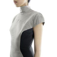 cap sleeve stitched mini dress