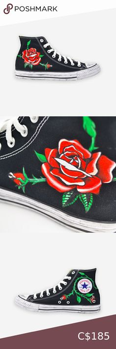 Converse All Stars Flower Converse All Star, Converse Shoes, Shoes Sneakers, Star Flower, Us Man, Plus Fashion, Fashion Tips, Fashion Trends, Boss
