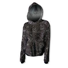 Black and White Old School Hoodie Sweatshirt Creative design sweatshirt, long sleeves with hood, kangaroo pocket, cuffs, and elastic knit bottom. Colorful Hoodies, Wool Fabric, Creative Design, Old School, Organic Cotton, Black And White, Knitting, Sweatshirts, Kangaroo