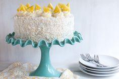 Save this dessert recipe to serve up a Piña Colada Coconut Cake.