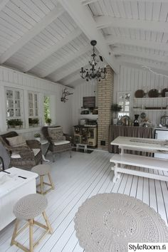 Forest Cottage, Lakeside Cottage, Cottage Design, House Design, Summer House Interiors, Porch And Balcony, Small Buildings, Summer Kitchen, Wood Interiors