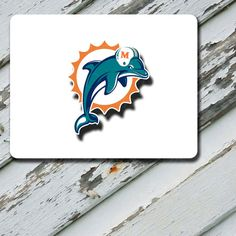 Mousepad Miami Dolphins White Background Design by EastCoastDyeSub