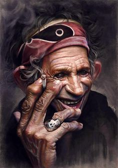 Keith Richards painting, by TiagoHoisel.blogspot.com/