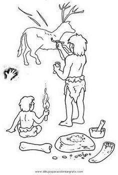 Bildresultat för dibujos prehistoria para colorear