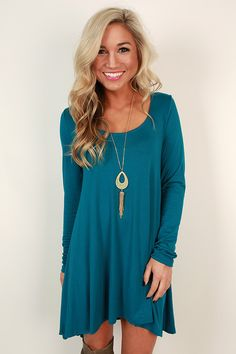 High Standards Tunic in Teal