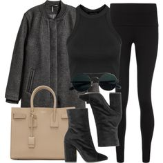 Style #11718 by vany-alvarado on Polyvore featuring Topshop, H&M, Sweaty Betty, Dries Van Noten and Yves Saint Laurent
