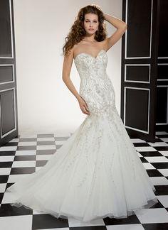 Love the detail on this mermaid style wedding gown by Eddy K CT105 Wedding Dress Body Type, Stunning Wedding Dresses, Wedding Gowns, Tulle, Dress Ideas, Bridesmaid Dresses, Bridal Dresses, Formal Wear, Mermaid Wedding
