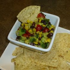 Black Bean and Avocado Salsa I could eat this all day!