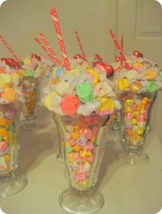 how cute... candy ice cream sundaes