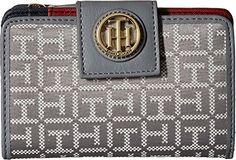 Tommy Hilfiger Womens TH Serif Signature - Medium Snap Flap Wallet