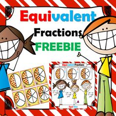 Equivalent Fractions Free: Here's a little freebie poster and student cards as a visual reminder for the teaching of the concept of equivalent fractions. This can be used at any level you wish. Remember it is always better to give your students hands-on activities to  facilitate meaningful learning of difficult concepts.