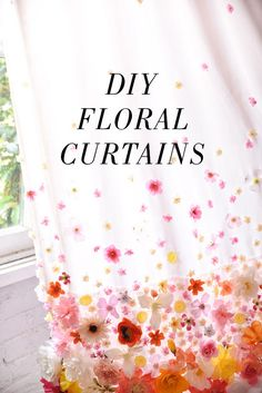 diy floral curtains | designlovefest