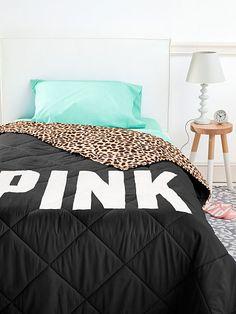 Bed in a Bag PINK set Natural Leopard/Teal/Black (X98)