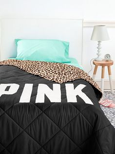 Bed in a Bag PINK set Natural Leopard/Teal/Black (X98)