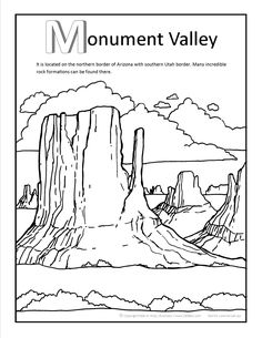 Monument Valley Coloring page at GilaBen.com