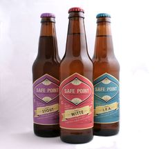 Safe Point Brewing Co. is a concept brewery that produces gluten free beer, created by designer Jenn Sager. Cool Packaging, Beer Packaging, Gluten Free Beer, Local Pubs, Packaging Design Inspiration, Business Inspiration, Beer Brands, Branding, Brewing Co