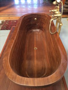 Afrormosia wooden bath. CNC Wood4africa