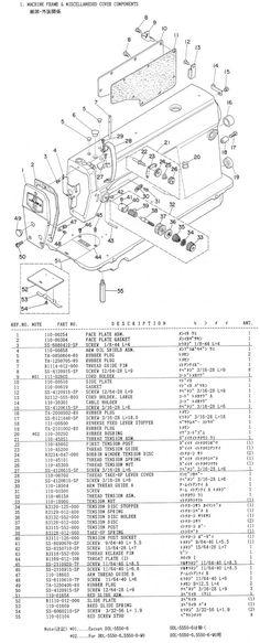 Juki 227 552 553 555 Sewing Machine Threading Diagram | Basics ...