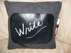 pillow chalk fabric