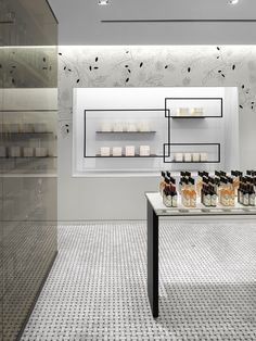 TA-ZE Premium Olive Oil Store – an air interior of the Canadian boutique of olive oil - Cutedecision Retail Interior Design, Retail Store Design, Retail Shop, Interior And Exterior, Retail Displays, Shop Displays, Merchandising Displays, Window Displays, Schönheitssalon Design